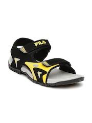 FILA Men Black Petros Sports Sandals