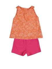 mothercare Girls Orange & Pink Clothing Set