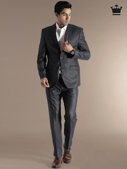 Louis Philippe Grey Ultra Fit Single-Breasted Suit