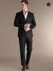 Louis Philippe Charcoal Grey Single-Breasted Ultra Fit Suit