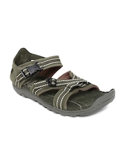 Woodland ProPlanet Men Olive Green Leather Sandals