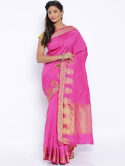 Sudarshan Silks Pink Art Silk Traditional Saree
