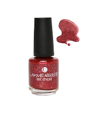 Lakme Absolute Gel Stylist Red Metal Nail Polish