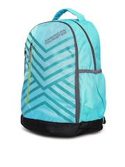 AMERICAN TOURISTER Unisex Turquoise Blue EBONY Printed Backpack