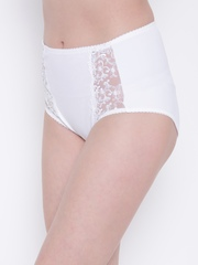 Ferrica by Dream of Glory Inc. Women White Embossed Shaper Briefs DOGIIRENE