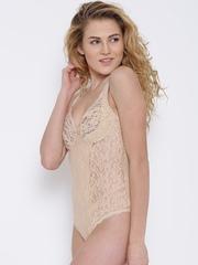 Ferrica by Dream of Glory Inc. Beige Lace Body Shaperwear DOGIGLICINE