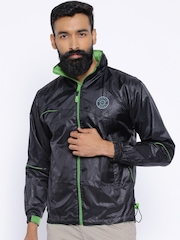 Sports52 Wear Black Comfort Fit Rain Jacket