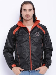 Sports52 wear Black Printed Rain Jacket