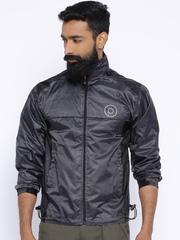 Sports52 Wear Black Comfort Fit Hodded Rain Jacket