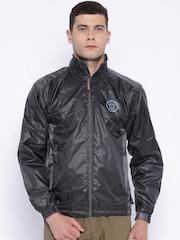 Sports52 Wear Grey Comfort Fit Hodded Rain Jacket