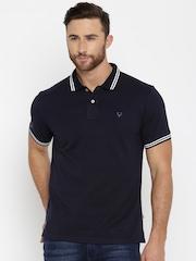 Allen Solly Men Navy Solid Polo T-Shirt
