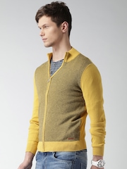 Mast & Harbour Men Yellow Sweater