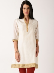 IndusDiva by Priyadarshini Rao Cream-Coloured Kurti