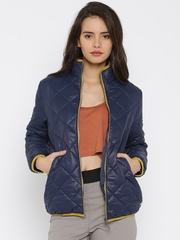 Mast & Harbour Navy Quilted Jacket