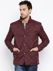 Mast & Harbour Burgundy Quilted Jacket