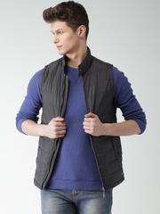 Mast & Harbour Charcoal Grey Sleeveless Puffer Jacket