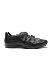 GEOX Respira Men Black Italian Patent Leather Casual Shoes