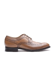 Geox Cuoio Men Brown Italian Patent Leather Brogues