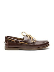 GEOX Respira Men Coffee Brown Breathable Italian Patent Leather Casual Shoes