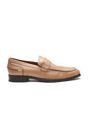GEOX Respira Men Tan Brown Breathable Italian Patent Leather Semiformal Slip-Ons