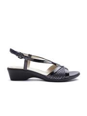 GEOX Respira Women Black Glossy Italian Patent Leather Heels