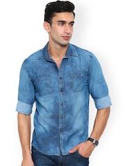 Bandit Blue Washed Slim Fit Denim Shirt