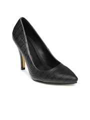Van Heusen Women Black Pointy-Toed Pumps