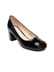 Van Heusen Women Black Peep-Toes