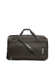 AMERICAN TOURISTER Unisex Coffee Brown Trolley Duffel Bag