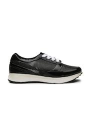 Carlton London Women Black Cut-Work Casual Shoes