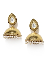 Tipsyfly Gold-Toned Jhumka Earrings