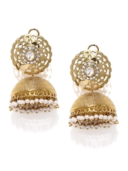 Tipsyfly Gold-Toned Jhumka Earrings