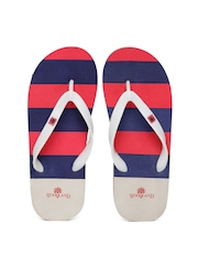 Woodland ProPlanet Men Grey Striped Flip-Flops