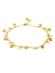 Fabindia Gold-Toned & White Anklet