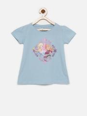 Disney Girls Blue Printed T-shirt