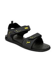 Puma Men Charcoal Grey Stablel IDP Sports Sandals