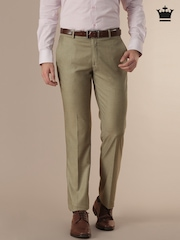 Louis Philippe Beige Ultra Fit Formal Trousers