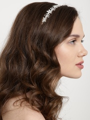 Lyla Loves Steel-Toned Stone-Studded Hairband
