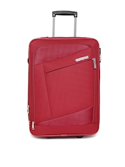 AMERICAN TOURISTER Unisex Red AMT Elegance Plus Small Trolley Bag