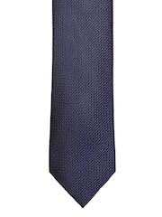 Louis Philippe Navy Patterned Silk Tie