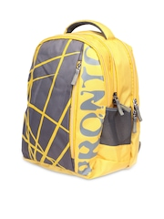 Pronto SUPERSTAR Unisex Yellow Printed Laptop Backpack