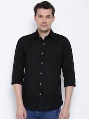 Wrangler Black Linen Casual Shirt