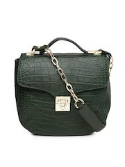 Hidesign Green Leather Handbag