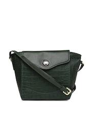 Hidesign Green Leather Sling Bag