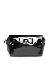FOREVER 21 Women Black Glossy Pouch