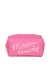 FOREVER 21 Women Pink Printed Pouch