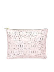 FOREVER 21 Women Light Pink Cut-Out Pouch