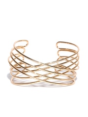 FOREVER 21 Gold-Toned Cut-Out Cuff Bracelet