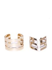 FOREVER 21 Set of 2 Gold-Toned Cuff Bracelets