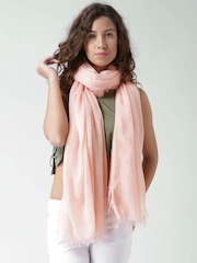 FOREVER 21 Peach-Coloured Fringed Stole